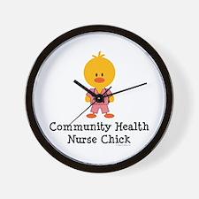 Community Health Nurse Chick Wall Clock