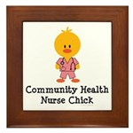 Community Health Nurse Chick Framed Tile