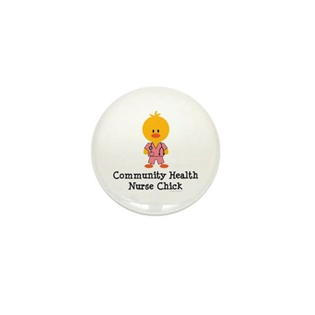 Community Health Nurse Chick Mini Button (100 pack
