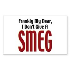 Don't Give A Smeg Rectangle Decal