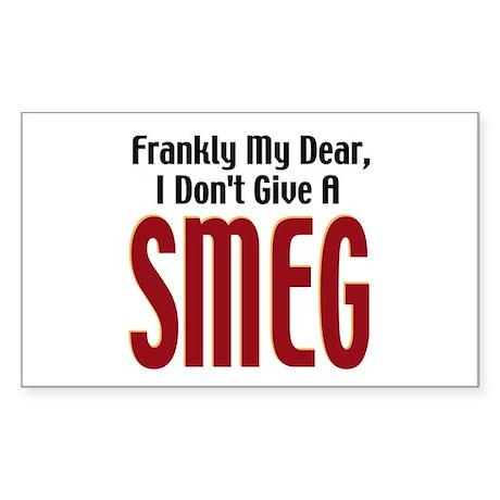 Don't Give A Smeg Rectangle Sticker
