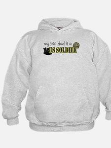 My Step Dad is a US Soldier Hoodie