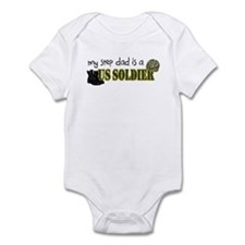 My Step Dad is a US Soldier Infant Bodysuit
