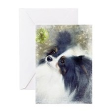 Papillon with Black Ears Greeting Card