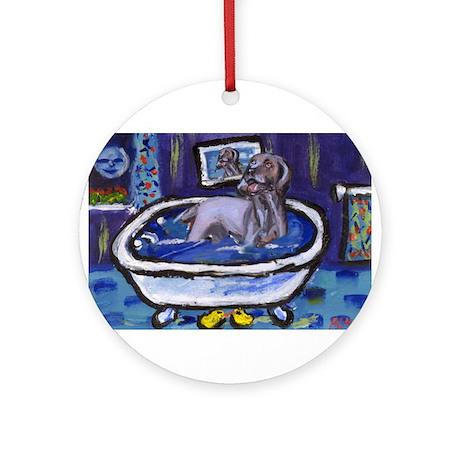 WEIMARANER bath Ornament (Round)