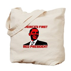 America's First Red President Tote Bag