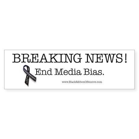 Stop the Presses! End Media Bias. Sticker (Bumper