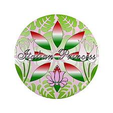 "Italian Princess Floral 3.5"" Button"