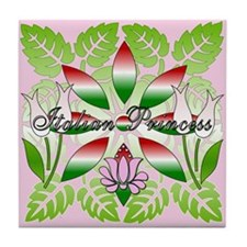 Italian Princess Floral Tile Coaster