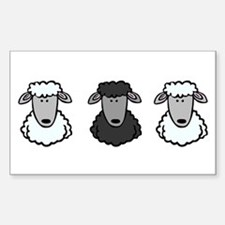 Black Sheep Of the Family Rectangle Decal