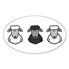 Black Sheep Of the Family Oval Decal