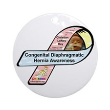 Christian LeRoy Ray CDH Awareness Ribbon Ornament