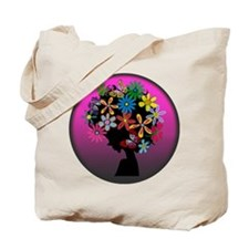 Colorful-BOMBER HEAD (Round) Tote Bag
