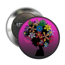 """Colorful-BOMBER HEAD (Round) 2.25"""" Button"""