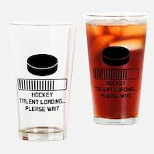 Hockey Talent Loading Drinking Glass