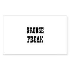 GROUSE FREAK Rectangle Decal