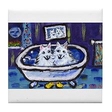 Eskie Bath Tile Coaster