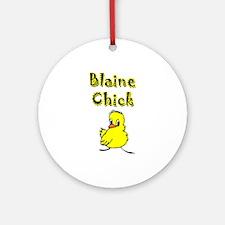 Blaine Chick Ornament (Round)