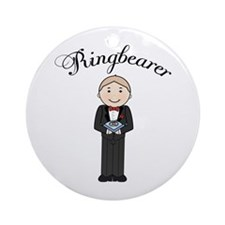 Cute Little Ringbearer Ornament (Round)