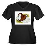 Bokhara Trumpeter Pigeon Women's Plus Size V-Neck