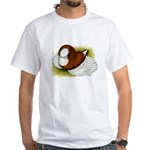 Bokhara Trumpeter Pigeon White T-Shirt