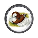 Bokhara Trumpeter Pigeon Wall Clock