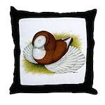 Bokhara Trumpeter Pigeon Throw Pillow