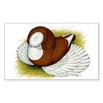Bokhara Trumpeter Pigeon Rectangle Sticker