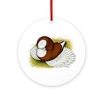Bokhara Trumpeter Pigeon Ornament (Round)