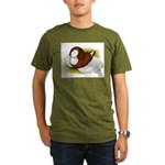 Bokhara Trumpeter Pigeon Organic Men's T-Shirt (da
