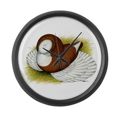Bokhara Trumpeter Pigeon Large Wall Clock