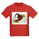 Bokhara Trumpeter Pigeon Kids Dark T-Shirt