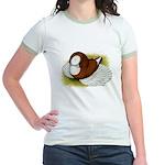 Bokhara Trumpeter Pigeon Jr. Ringer T-Shirt