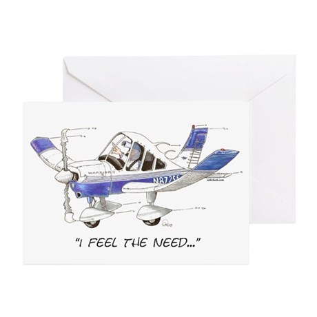 I Feel the Need Greeting Cards (Pk of 10)