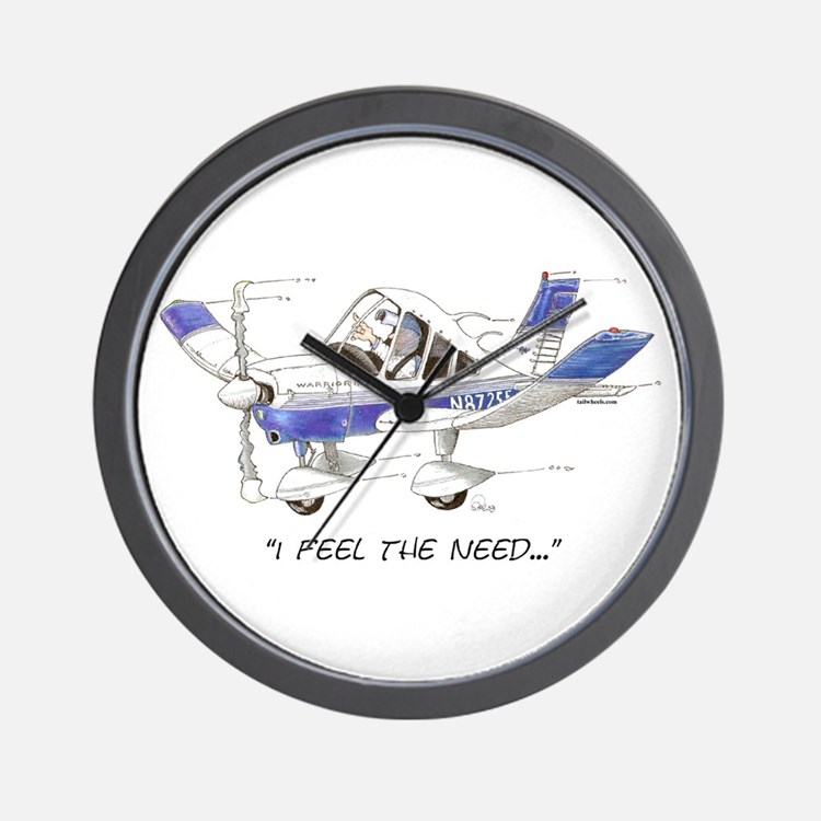 I Feel the Need Wall Clock