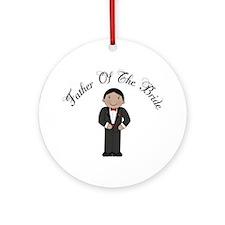 Fun Father Of The Bride Ornament (Round)