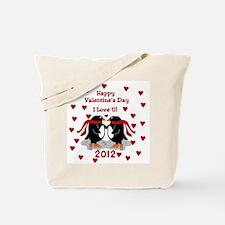 Penguin I Love U Valentine Tote Bag