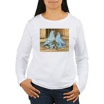 Lavender West Pigeons Women's Long Sleeve T-Shirt