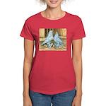Lavender West Pigeons Women's Dark T-Shirt