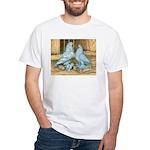 Lavender West Pigeons White T-Shirt