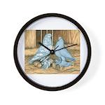 Lavender West Pigeons Wall Clock