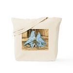Lavender West Pigeons Tote Bag