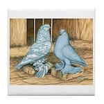 Lavender West Pigeons Tile Coaster
