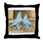 Lavender West Pigeons Throw Pillow