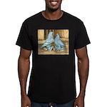 Lavender West Pigeons Men's Fitted T-Shirt (dark)