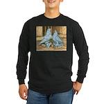 Lavender West Pigeons Long Sleeve Dark T-Shirt