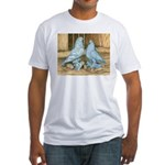 Lavender West Pigeons Fitted T-Shirt