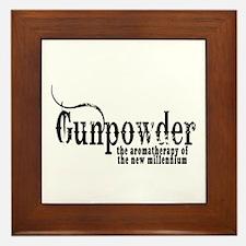 Gunpowder Gun Humor Framed Tile