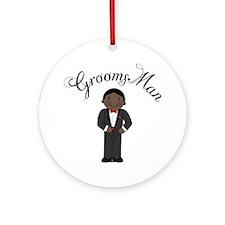 Groomsman Ornament (Round)