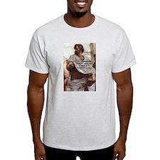 Aristotle Education Quote Ash Grey T-Shirt